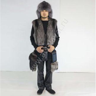 Fur vests with decor